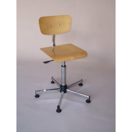 Chaise dessinateur bois 55/80 cm